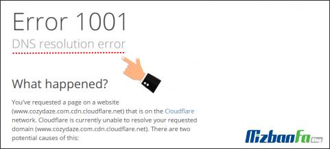 رفع ارور DNS resolution error