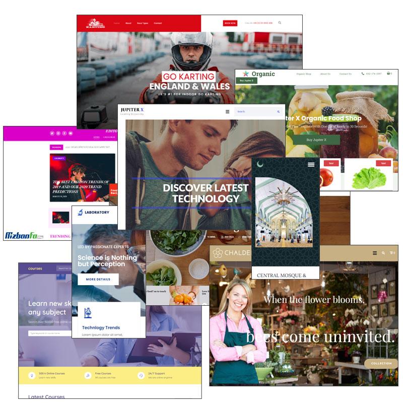 ارائه بیش از 300 وب سایت آماده در قالب وردپرسی ژوپیتر
