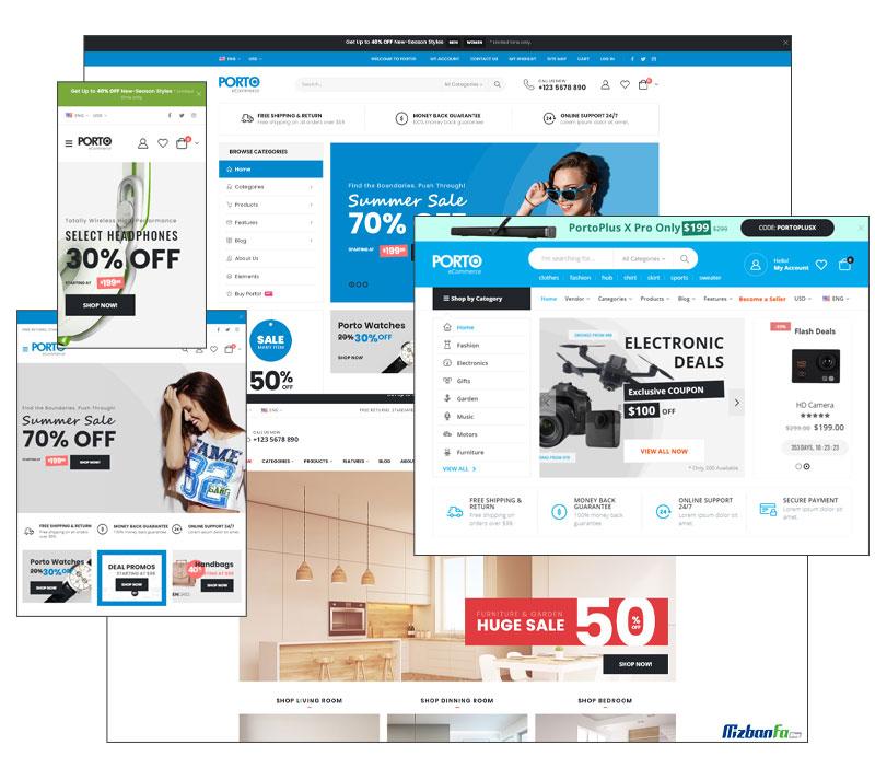 سازگاری کامل قالب پورتو وردپرس با فروشگاه سازهای محبوب