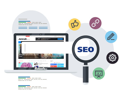 بهینه بودن قالب وردپرسی جنه برای موتورهای جستجو