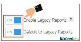 فعال کردن legacy report جی تی متریکس