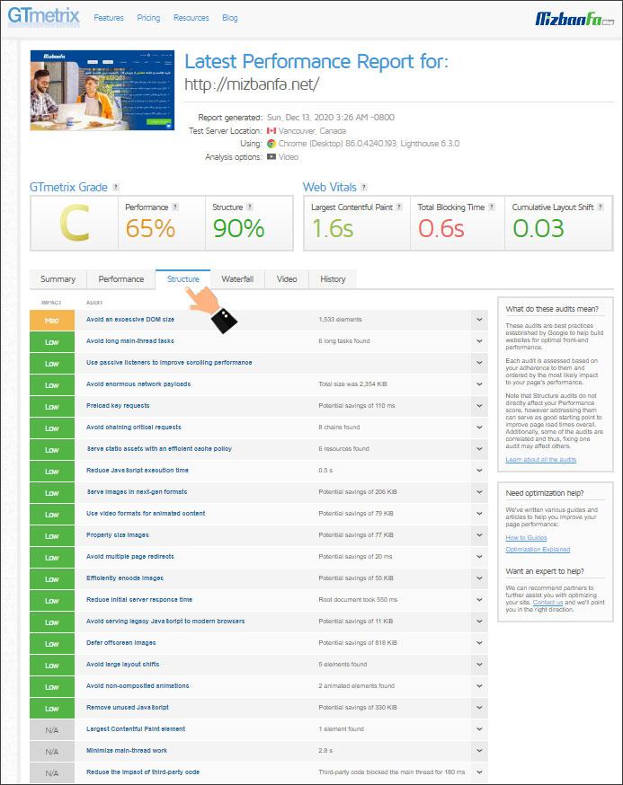 نقش بهبود ساختار سایت در عملکرد آن