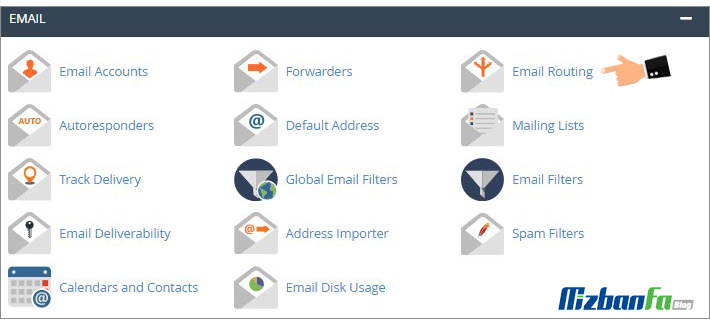 تنظیمات ایمیل در سی پنل