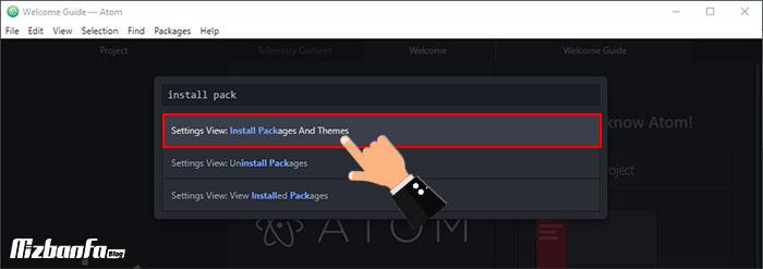 آموزش اتصال اکانت ftp به نرم افزار atom