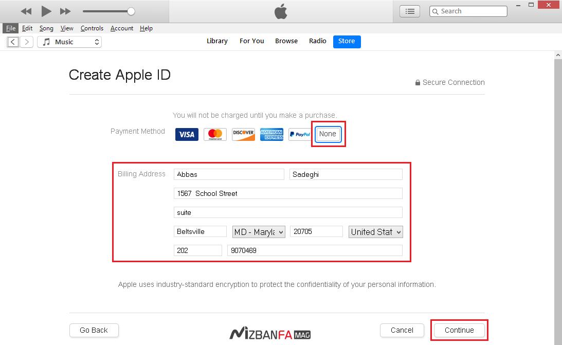 آموزش ساخت اپل آیدی 2018 (Apple ID) و آدرس آمریکا برای ساخت اپل آیدی