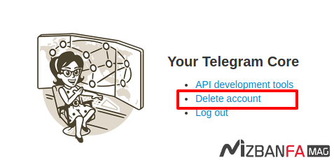 حذف اکانت تلگرام | دیلیت اکانت تلگرام | delete account telegram