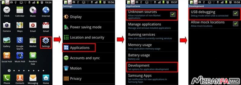 آموزش روت گوشی اندروید | چطور گوشی را روت کنیم فعال کردن USB Debugging