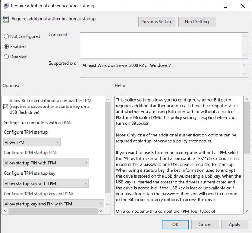 آموزش بیت لاکر در ویندوز 10
