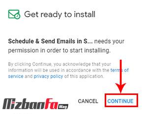 ابزار زمانبندی نصب Schedule & Send Emails in Spreadsheets