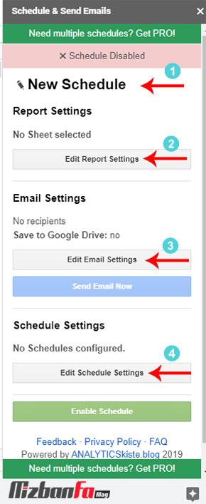 مدیریت و زمانبندی ایمیل ها