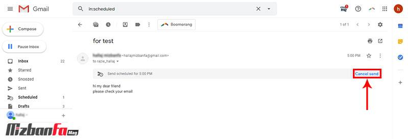آموزش ارسال ایمیل خودکار