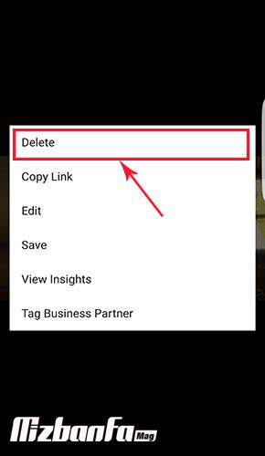 حذف ویدیو از igtv