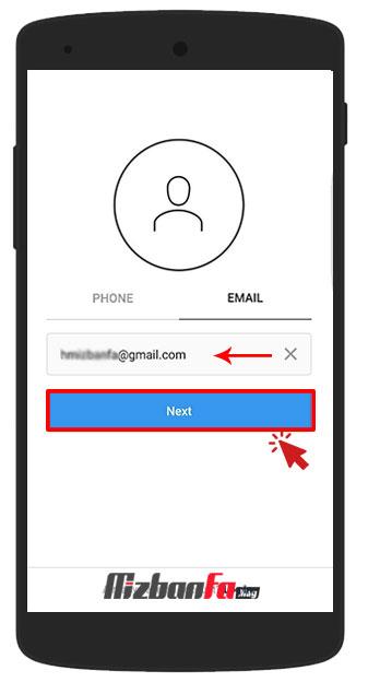 ساخت حساب کاربری برای اینستاگرام