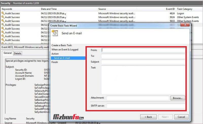 انواع رویدادهای ویندوز حذف لاگ های ویندوز تحلیل لاگ ویندوز