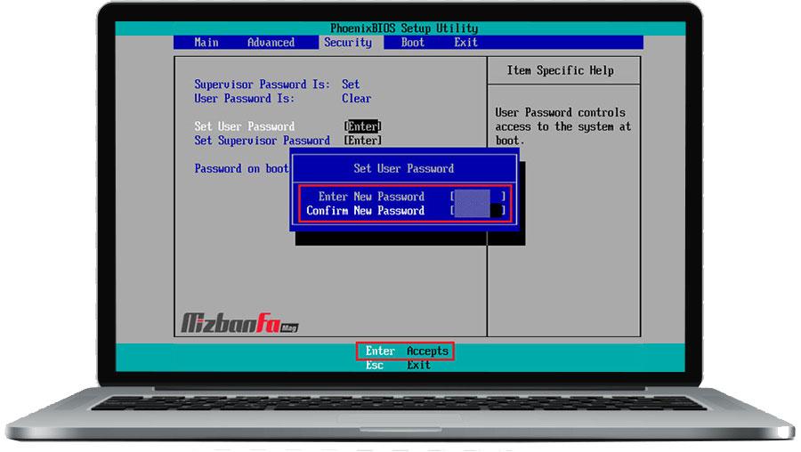 رمزگذاری کامپیوتر هنگام روشن شدن