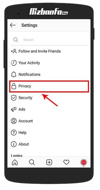 خصوصی کردن حساب اینستاگرام