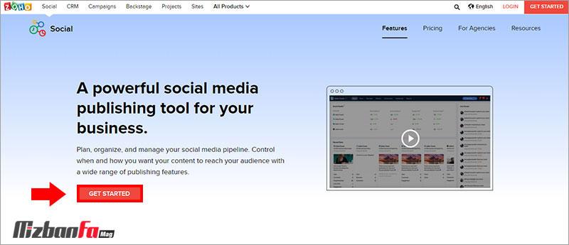 ارسال خودکار پست اینستاگرام با zoho social