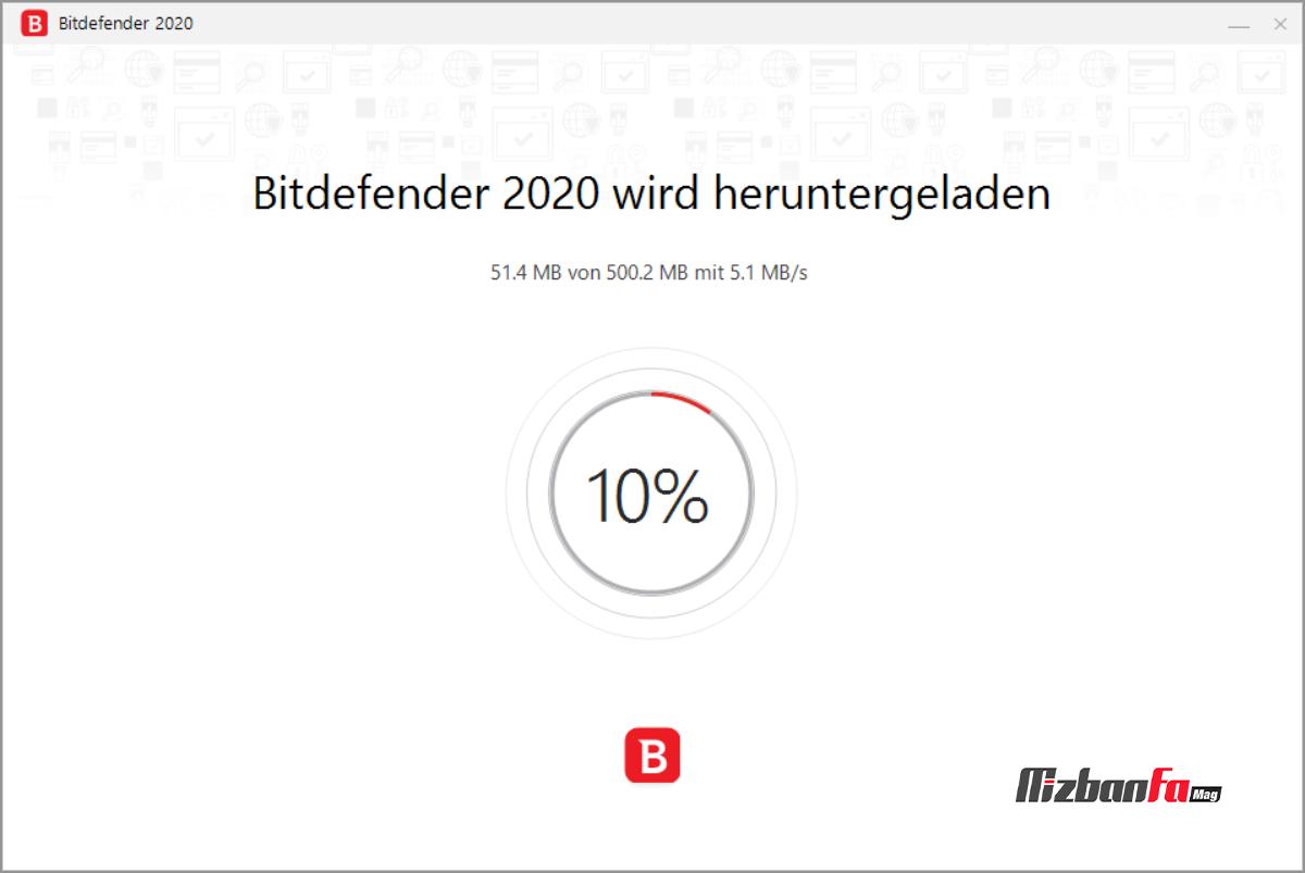 نصب آنتی ویروس BitDefender