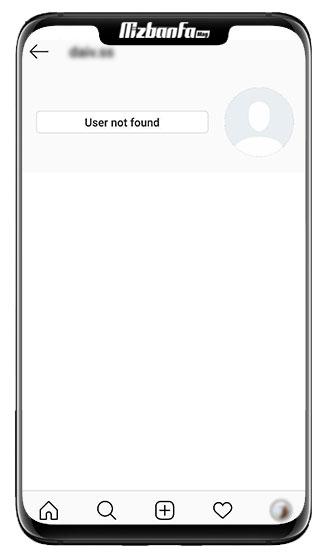 پیغام user not found در اینستاگرام