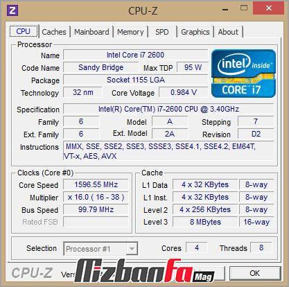 برنامه Cpu-z