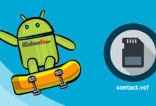 آموزش انتقال مخاطبین گوشی اندروید به کارت حافظه