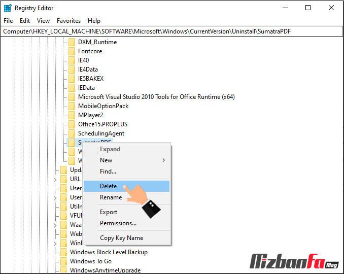 حذف برنامه هایی که پاک نمیشوند در ویندوز