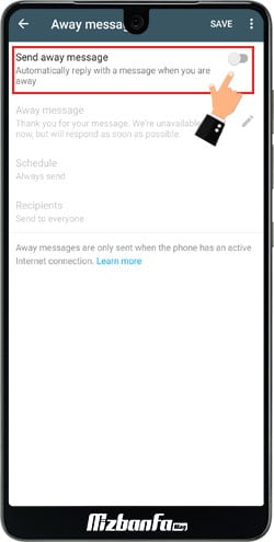 ارسال پیام خودکار در واتس اپ بیزینس