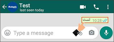 چگونگی فهمیدن خوانده شدن پیام در واتساپ