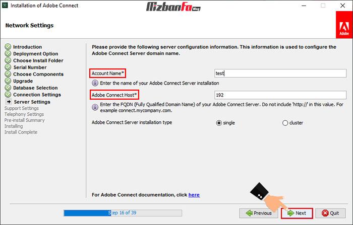 نحوه نصب برنامه adobe connect برای ویندوز