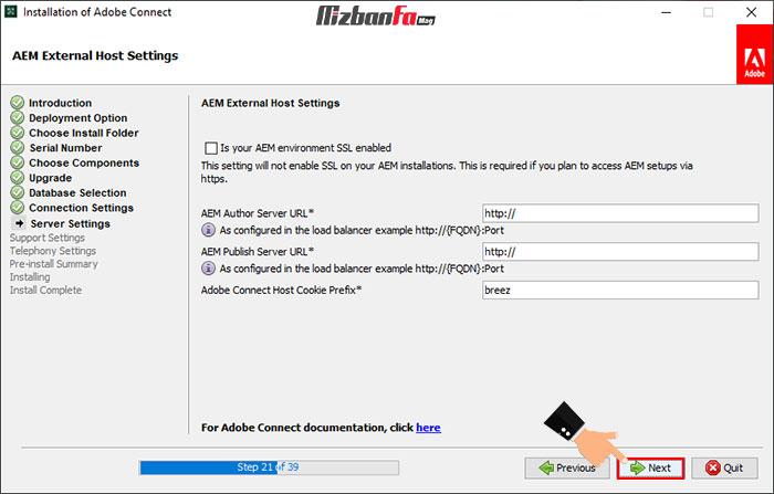 آموزش نصب برنامه adobe connect روی کامپیوتر