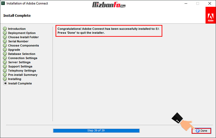 چگونگی نصب برنامه ادوب کانکت ویندوز به عنوان استاد