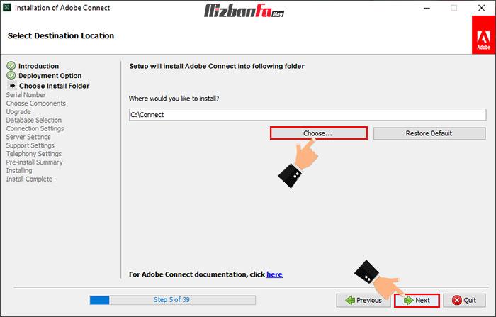 آموزش نصب برنامه ادوب کانکت ویندوز