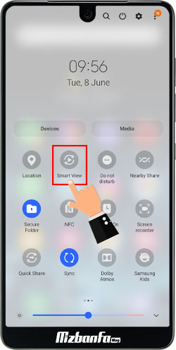 نمایش تصویر موبایل روی تلویزیون