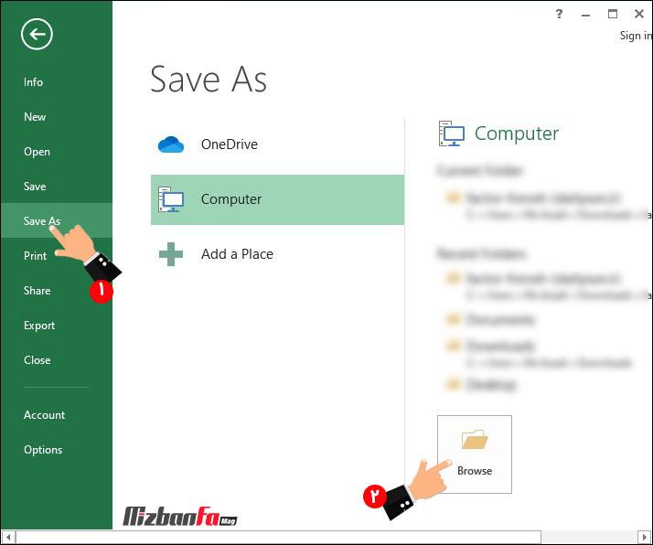 تبدیل فایل اکسل به PDF بدون نرم افزار جانبی