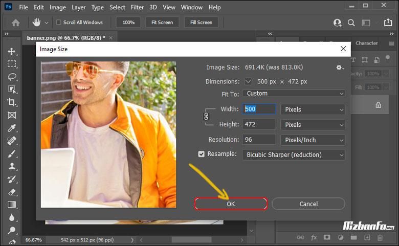 نحوه ذخیره عکس برای وب در فتوشاپ
