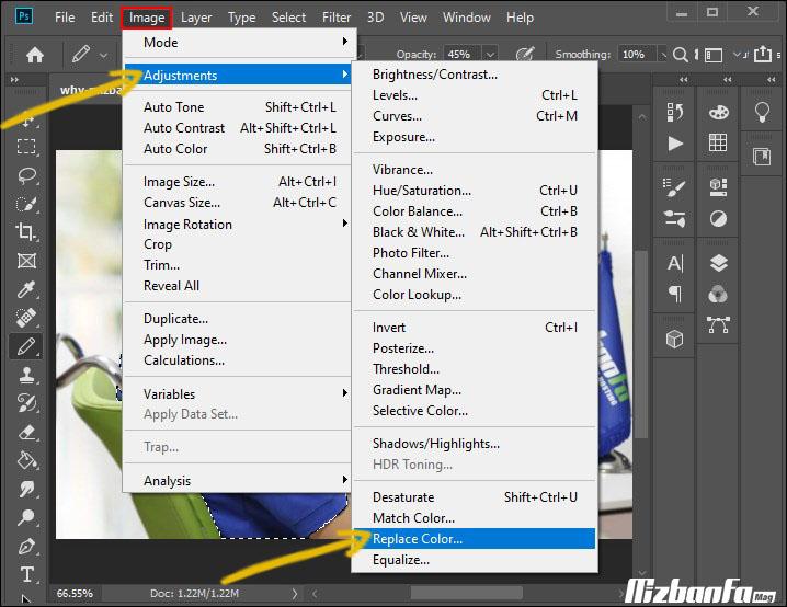 آموزش تغییر رنگ بخشی از تصویر بدون افت کیفیت