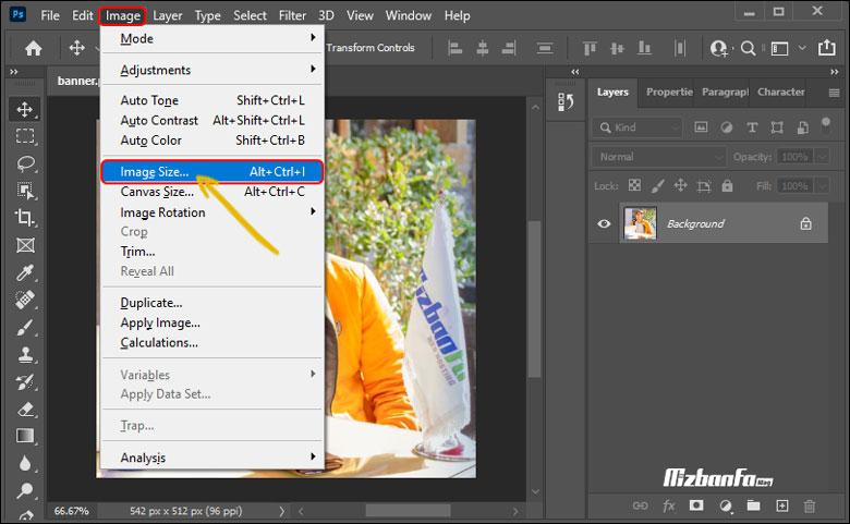 کاهش حجم عکس برای وب در فتوشاپ