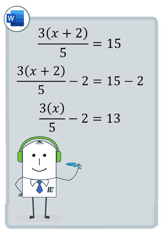 نوشتن فرمول ریاضی در ورد